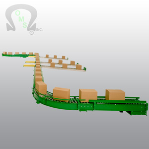 OMS' case conveyor systems use no proprietary parts