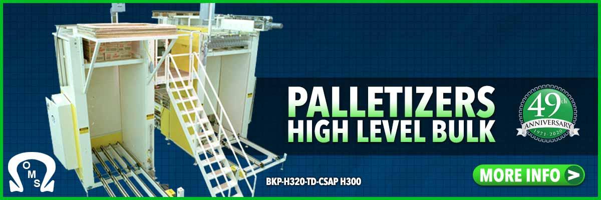 palletizers high level infeed-bulk